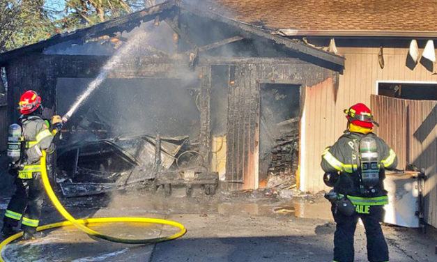 No injuries in garage/shop fire in Kent Saturday