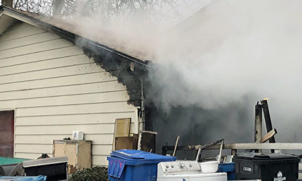 One rescued from house fire in Kent Monday morning