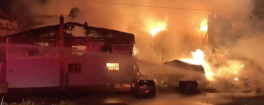 Huge fire at White River Feed Company in Kent early Wednesday