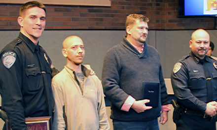 Citizen, officer honored for lifesaving efforts at council meeting