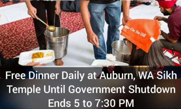 Auburn Sikh Temple offering free food to Federal Employees