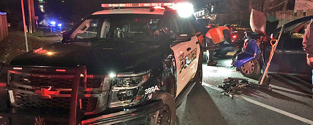 DUI driver starts New Year by ramming into police cruiser