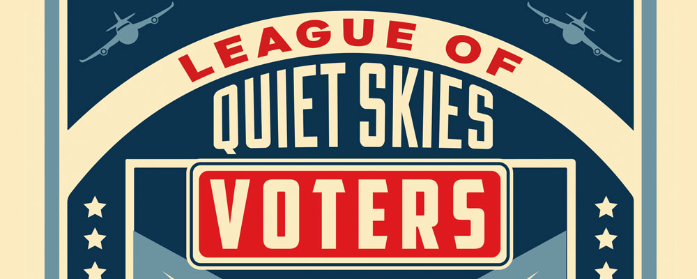 Citizen activists launch new 'League of Quiet Skies Voters' group