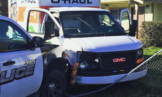Kent Officer pursues, stops felon in U-Haul Saturday