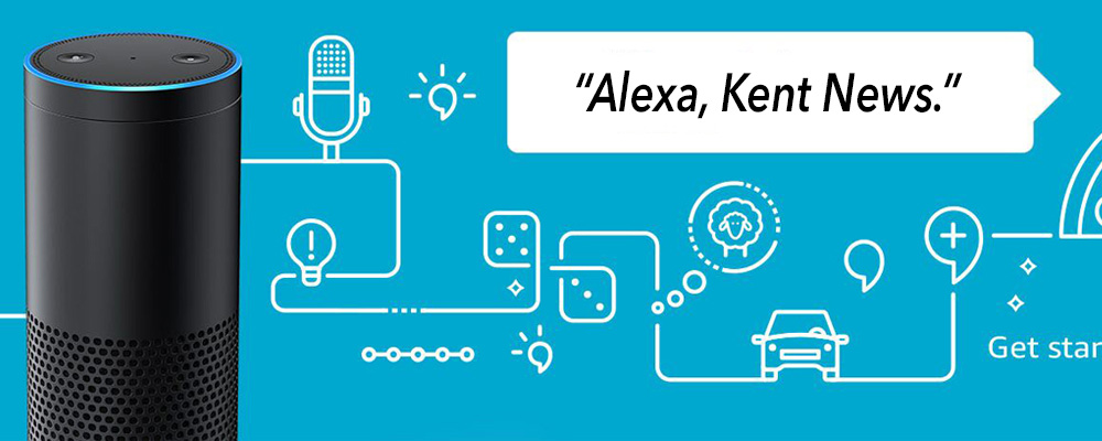 You can now get FREE Kent News 24/7 with your Alexa device
