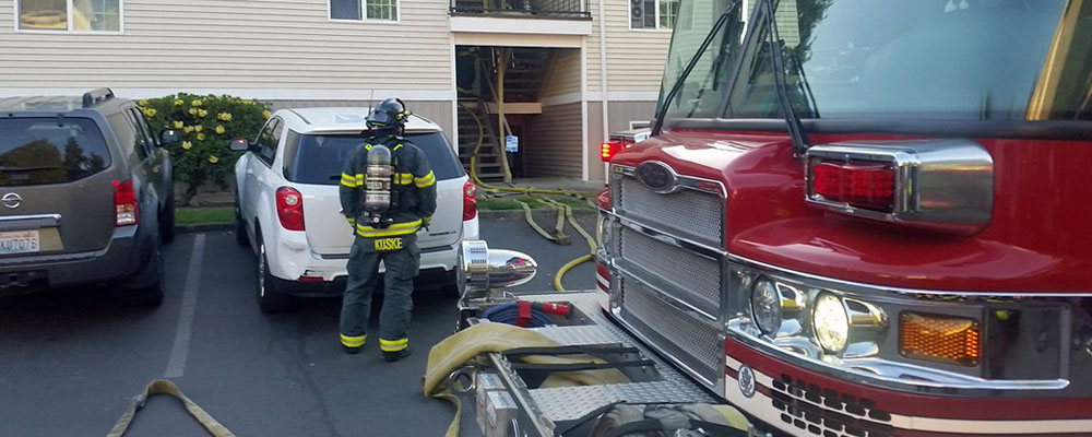 Fire hits apartment in Kent Wednesday night
