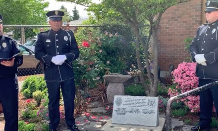 VIDEO: Officer Diego Moreno's name unveiled on police memorial