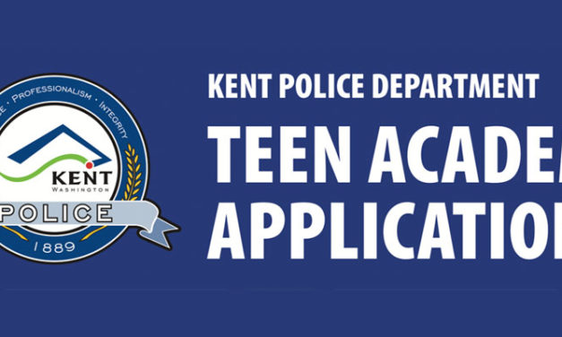 Registration now open for 2019 Kent Police Department Teen Academy