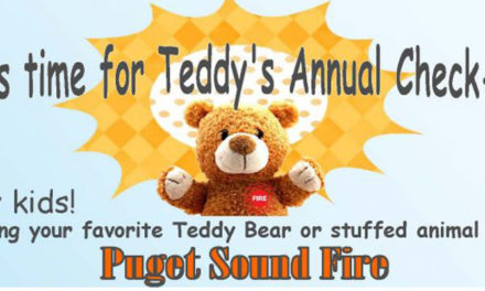 Puget Sound Fire's free 'Teddy Bear Check-up' will be Sat., June 1