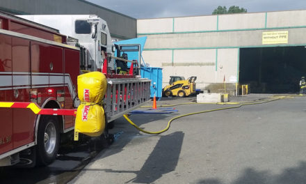 Fire at paper recycling plant extinguished by sprinkler system
