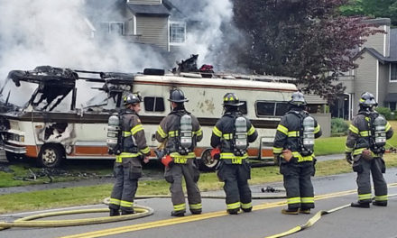 Older motor home catches fire in Kent Wed. afternoon