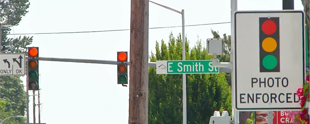 VIDEO: City of Kent installing six red light cameras