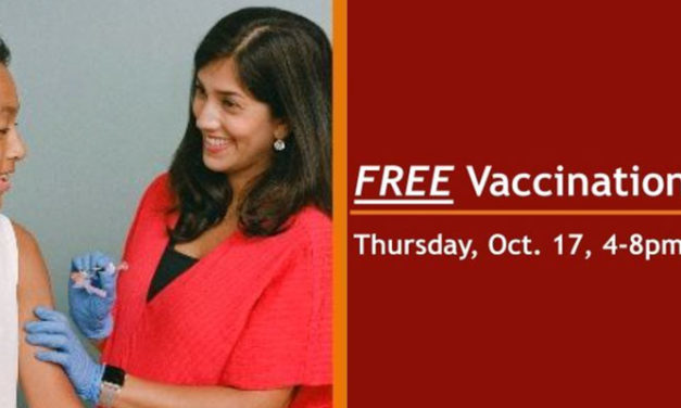 Free vaccination clinic for K-12 students will be Thurs., Oct. 17