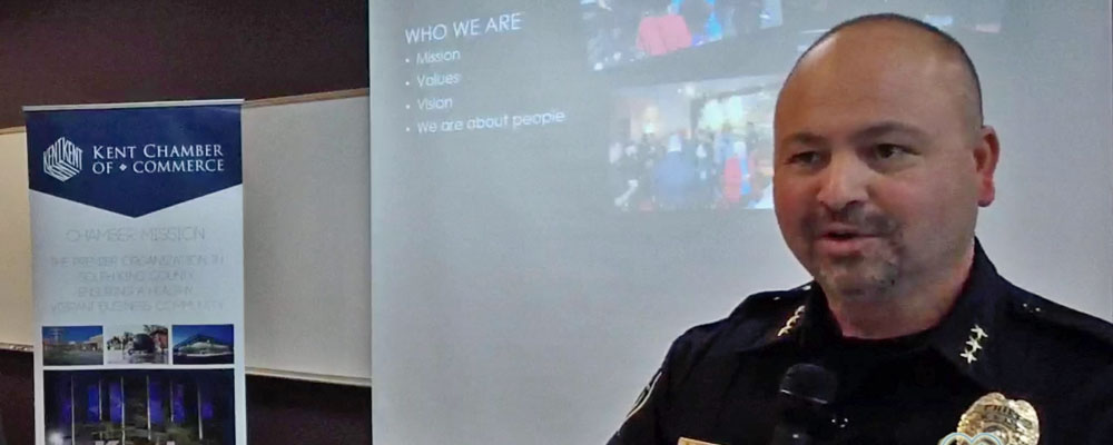 VIDEO: Police Chief gives update on crime, disputes with King Co. Prosecutor