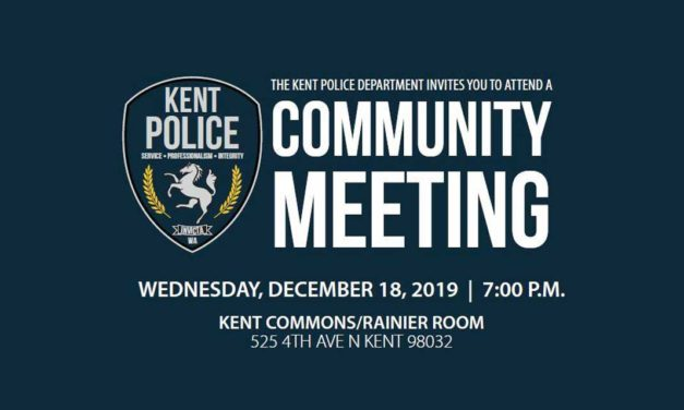Kent Police Community Meeting on Body Worn Cameras will be Wed., Dec. 18