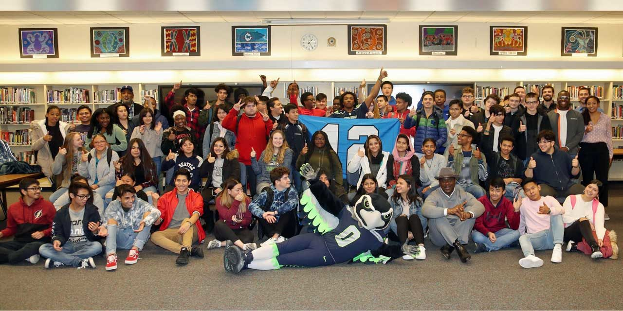 Seahawks help launch African-American History course at Kent-Meridian High School