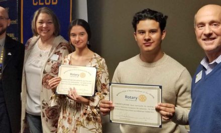 Sofia Sednef, Kevin Hermosillo recognized as Rotary Students of Month