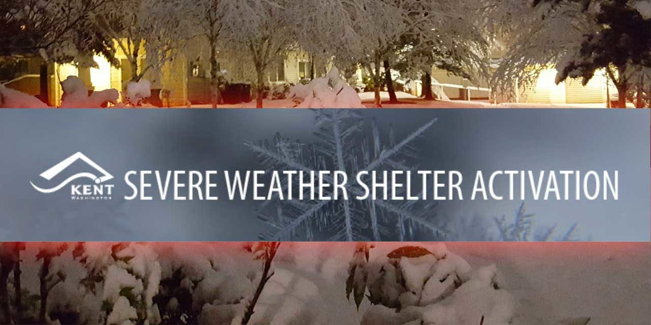 Kent Severe Weather Shelter will be open Jan. 13 & 14