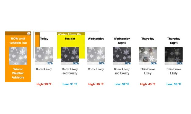WEATHER: 'Winter Storm Watch' issued; more snow possible tonight