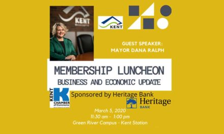 Mayor Ralph will give Business & Economic Update at Kent Chamber luncheon Mar. 5