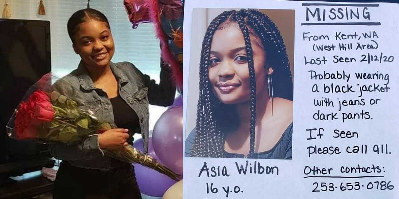 MISSING: 16-year-old Asia Wilbon is missing out of Kent