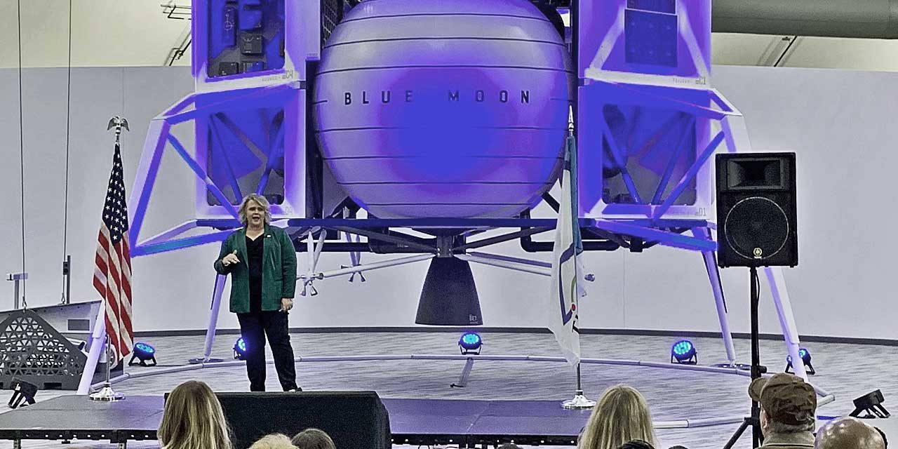 VIDEO: In front of 'Blue Moon' lunar rover, Mayor Dana Ralph gives 'State of the City' address
