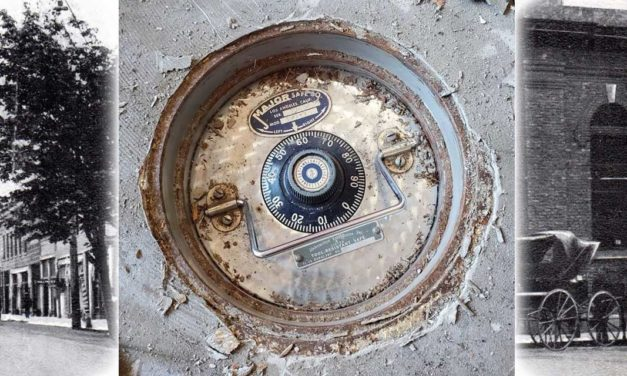 Renovation work uncovers historic old vault in floor of Kent's Morrill Bank building