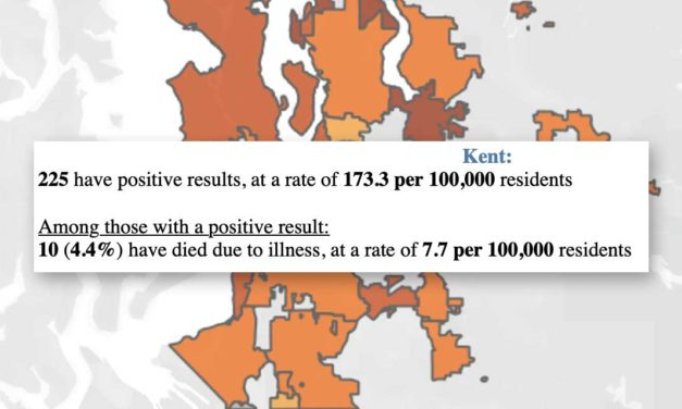 Ten dead, 225 positive in Kent, according to Tuesday's COVID-19 dashboard update