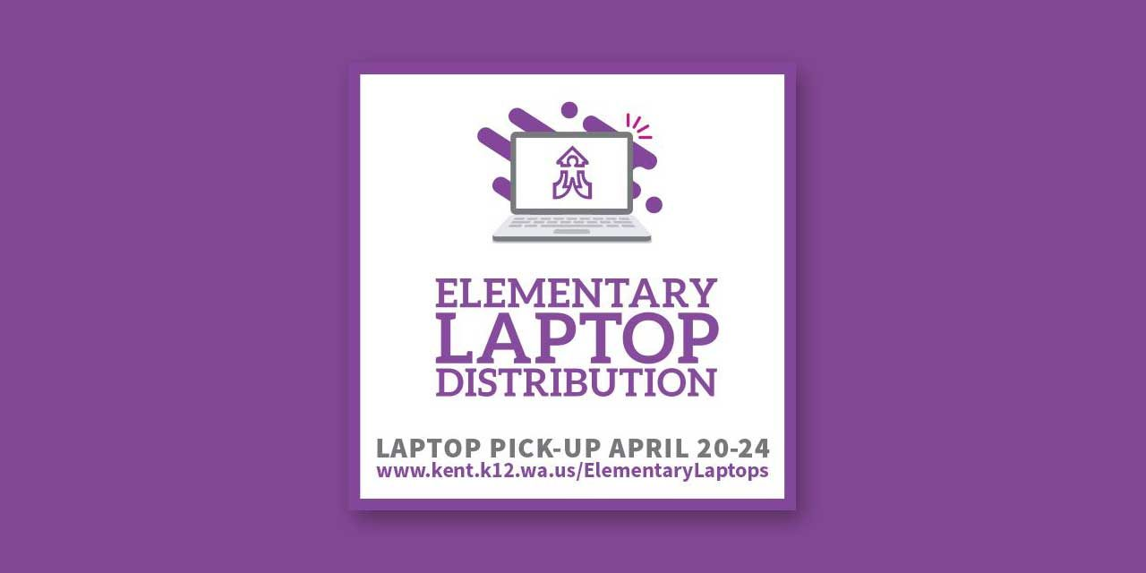 Kent School District will begin distributing laptops to elementary students Monday