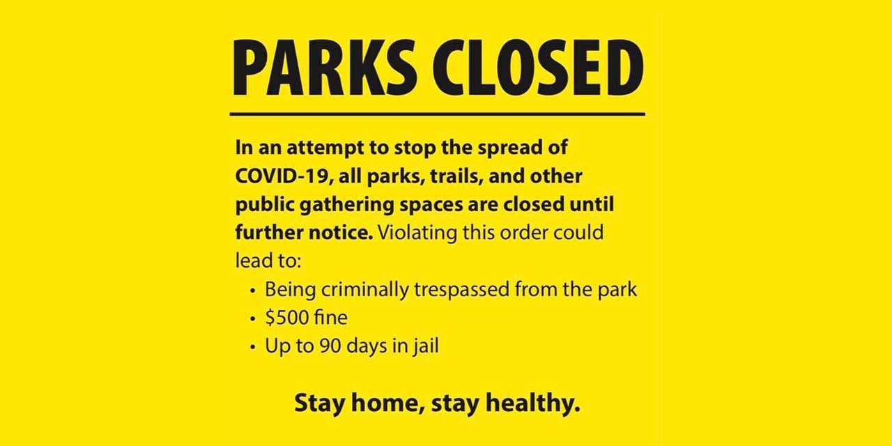 In attempt to stop spread of COVID-19, City of Kent reminds all that parks are closed