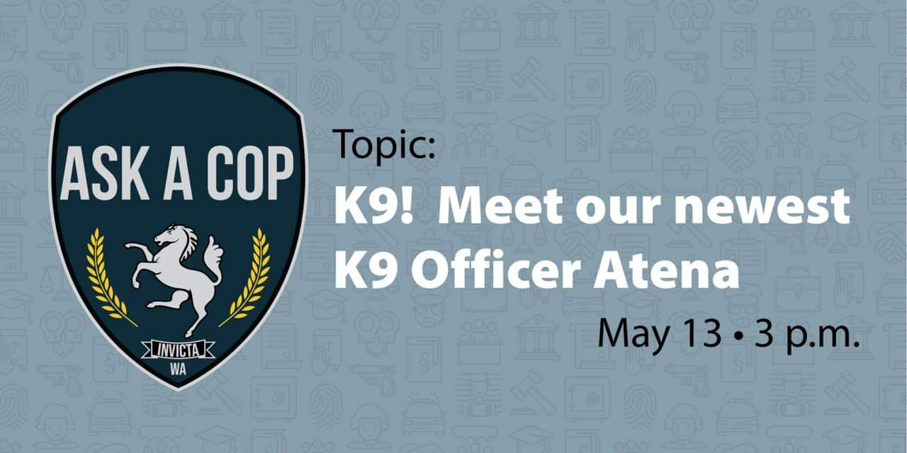 Meet Kent Police's new K9 Atena on Facebook live Wed., May 13