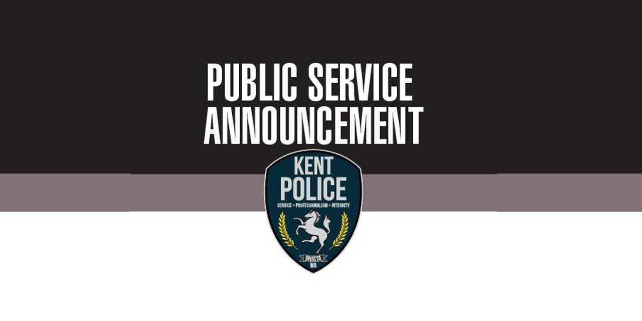 Kent Police say: 'if you see something then please say something'