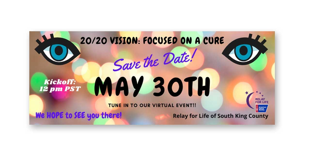 The first-ever Virtual Relay For Life will take place this Saturday, May 30