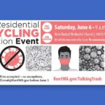 Recycling Event will be held at Kent United Methodist Church this Saturday, June 6