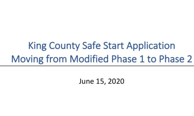 King County applies for Phase 2 of Safe Start recovery plan