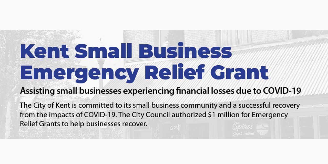 Kent Small Business Emergency Relief Grants coming; here's how to apply