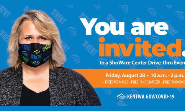 City of Kent giving away FREE face masks, sanitizer & food on Friday, Aug. 28