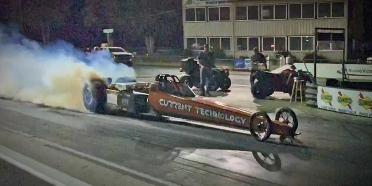 Local racer Steve Huff sets new World Record in electric dragster at Kent's Pacific Raceways