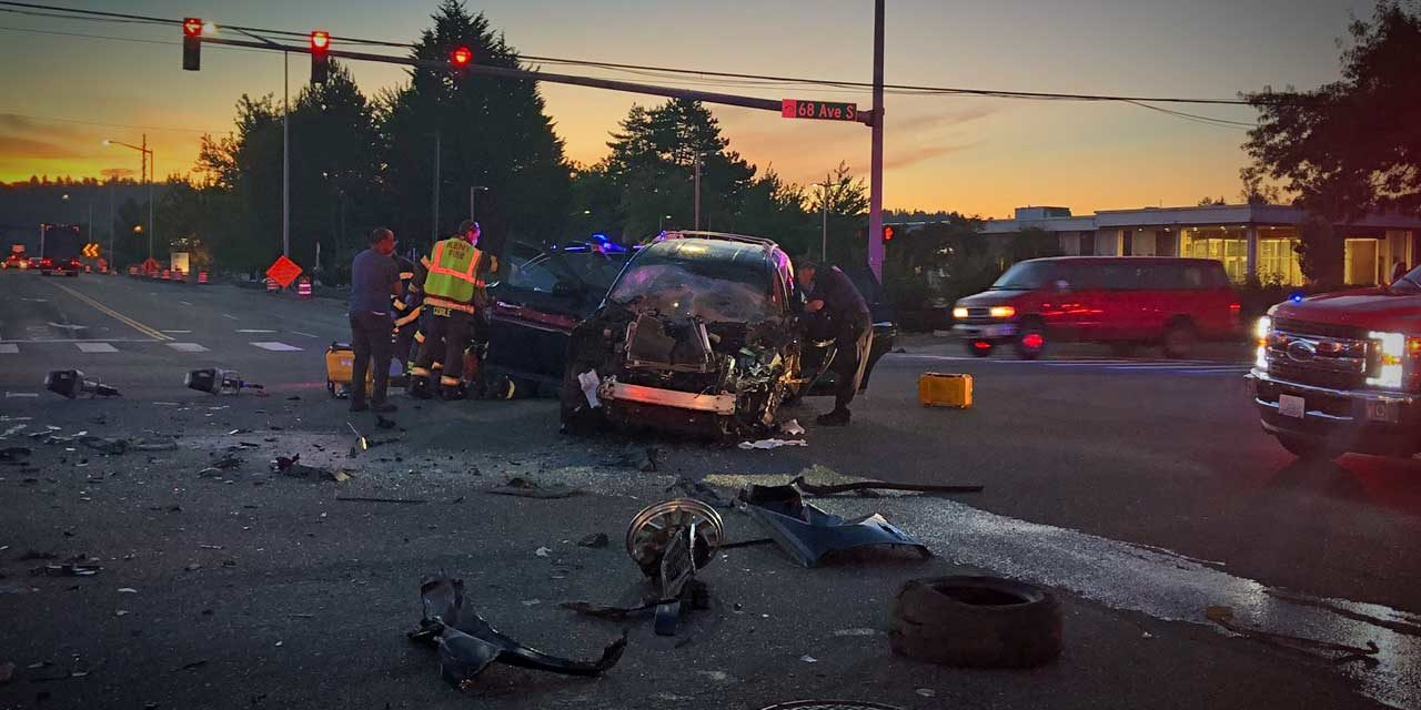Serious car vs semi-truck accident closes 68th Ave S. in Kent Wed. morning