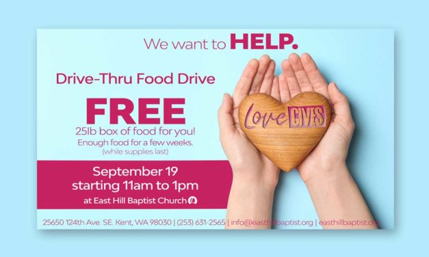 East Hill Baptist Church giving out free food boxes on Saturday, Sept. 19