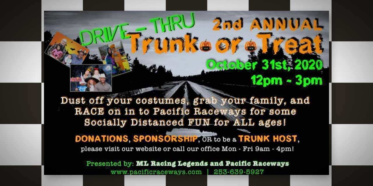 Halloween is ON with a safe 'Trunk or Treat' at Pacific Raceways in Kent on Halloween