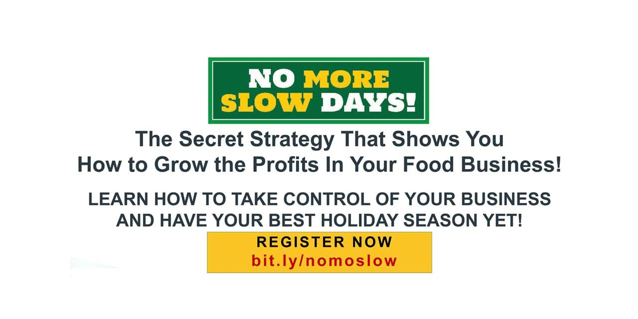 No more Slow Days! Learn how to market your Restaurant at FREE online workshop Nov. 16 & 17