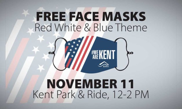 Get a FREE Face Mask at Kent Park & Ride this Veteran's Day, Wed., Nov. 11