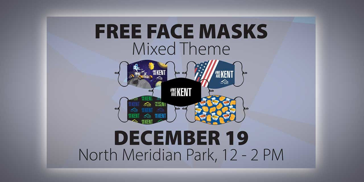 City of Kent distributing more free Face Masks at North Meridian Park on Sat., Dec. 19