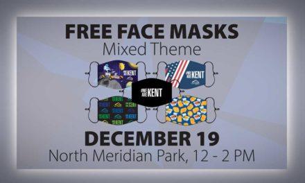 City of Kent distributing more free Face Masks at North Meridian Park on Sat., Dec. 19