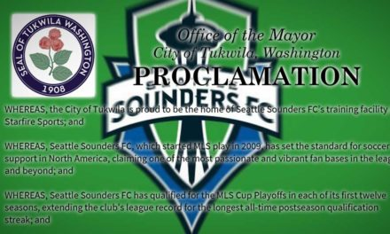 Saturday is 'Seattle Sounders FC Spirit Day' – here's video of Tukwila Mayor's proclamation