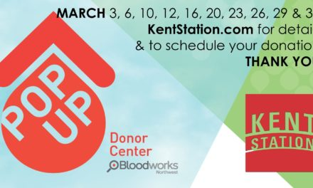 Pop-up Blood Drives coming to Kent Station in March