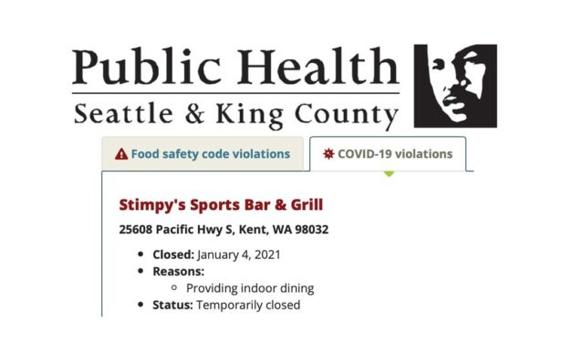 Public Health closes Stimpy's Sports Bar & Grill due to COVID-19 violations