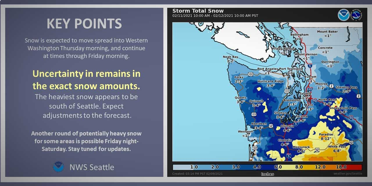 WEATHER: Chance of snow coming as early as Wednesday night & continuing thru weekend
