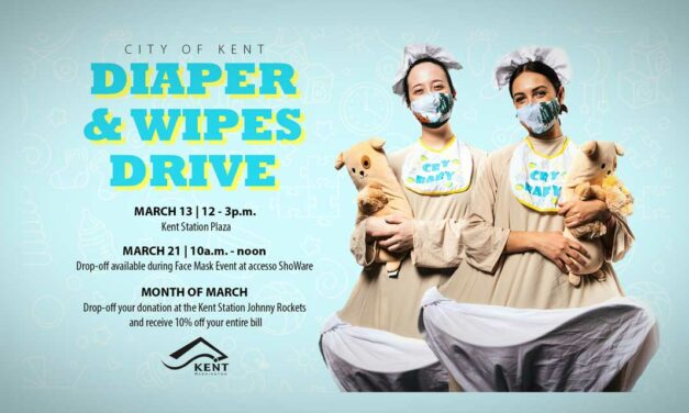 'Do the Right Thing' and donate diapers and wipes for families in Kent in March